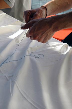 Stitching hands